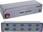 MVS-108-Разветвитель видеосигнала VGA на 8 мониторов